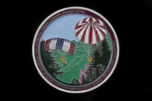 Challenge coin with historical bases