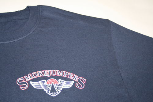 NEW smokejumpers t-shirt with logo on left chest – short sleeves