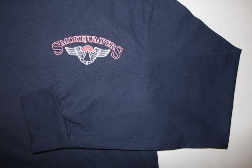 NEW smokejumpers t-shirt with logo on left chest – long sleeves