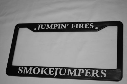 Smokejumpers license plate frame